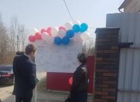 Шкиль Олег Сергеевич. Торжественное мероприятие пуска газа к жилым домам п. Южный (3-я очередь)