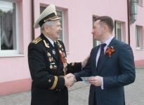 Быков Олег Анатольевич. Поздравление ветерана Виктора Игонина.