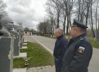 выездное совещание на военном аэродроме Чкаловска по вопросу установки бюстов Героев РФ.