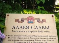 Аллея Славы на ул. Комсомольская