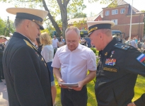 обсуждение мероприятия с военными в Чкаловске на праздновании Дня Победы